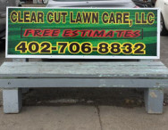 Clear Cut Lawn Bench