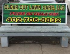 Clear Cut Lawn Bench