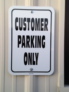 Customer Parking Only Aluminum Sign