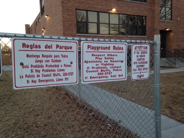 Playground Signage