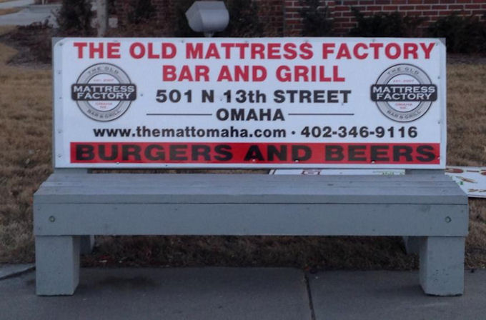 Bench in Downtown Omaha