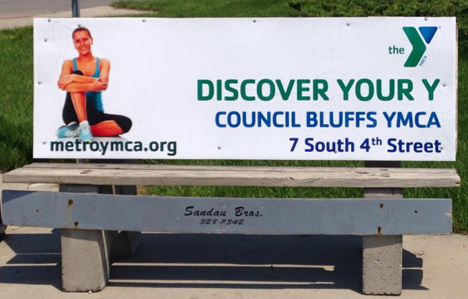 YMCA Bus Bench